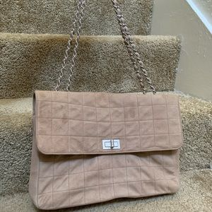 Chanel Chain flap chocolate bar suede